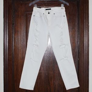Ripped white GENETIC LOS ANGELES pants